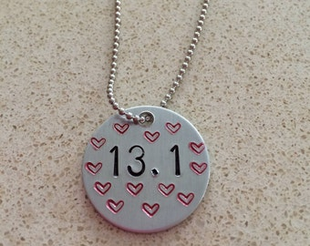 Hand Stamped 13.1 Necklace