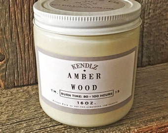 Amber Wood - Phthalate Free Soy Candle