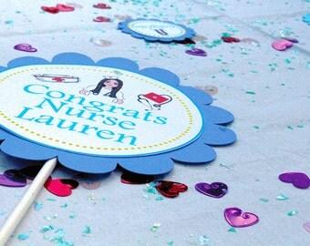 Nurse Cupcake Toppers(24), Nurse Graduation Decorations, Nursing School Graduation Party, Medical Cupcake Toppers