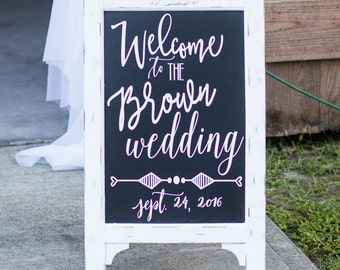 Custom Wedding Welcome Board Vinyl Decal
