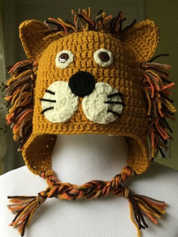 Crochet Lion Hat Lion Hat Character Hat Animal Hat Crochet