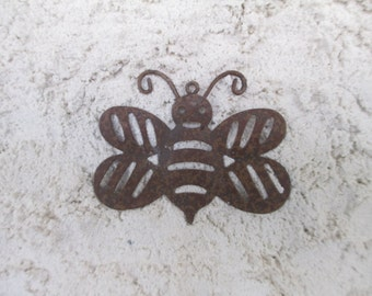 Handmade - Bumble Bee on Stucco - Wall Decor - Unique Texture