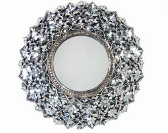 Round Handcut Glass Mirror