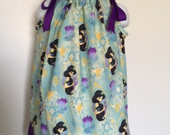A beautiful pillowcase dress with matching bow