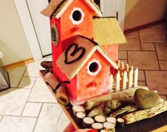 Little Red Love Birdhouse