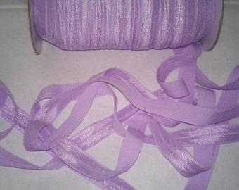 2,3 or 5. Yards FOE 5/8 Lt Orchid Fold Over Elastic. Headband Supplies DIY