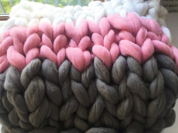 Arm Knitting Yarn Australia : Super chunky knit blanketchunky blanketarm by becozi