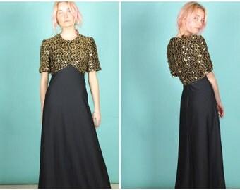 Vintage sequin maxi dress
