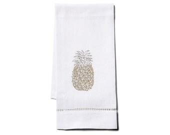 Fine Linen Hand/Tip Towel Pineapple