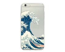 Clear iPhone SE case wave iPhone 6 Plus classic art iPhone 5s cover transparent iPhone 6 sea iPhone 4 case Samsung Galaxy S4 S5 S6 case