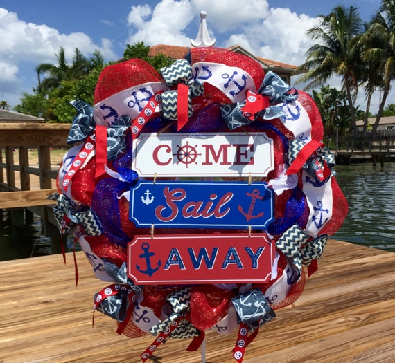Nautical wreath beach wreath summer wreath nautical decor beach