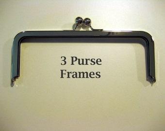 Three 8 X 3 Purse Frames FREE SHIPPING!
