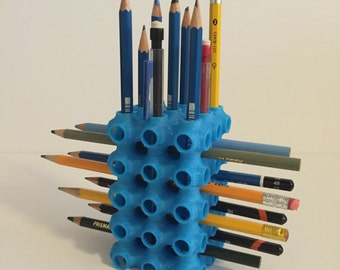 Surface Cube Pencil/Paintbrush Holder