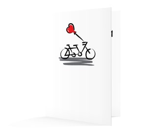 Let's Go Tandem - Valentine's Day Card