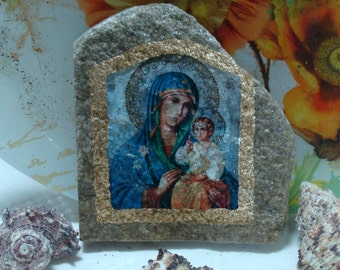 Stone icons, Icon of Virgin Mary, Mary & the Child Jesus, mother Mary, Madonna, Jesus,Virgin Mary