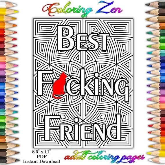 Migliore f cking amico swear pagine da colorare per adulti - Pagine da colorare pesci per adulti ...