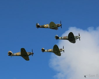 Battle of Britain 75th Anniversary Spitfire Flypast Photograph Print