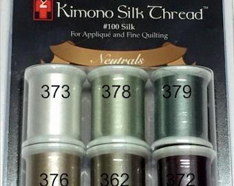 Silk Thread - Kimono Thread - Superior Threads - Applique Thread - Neutral Thread - #100 Silk Thread