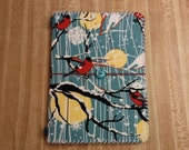 """SALE - Lucindadori Traveler's Notebook Cover: """"Flying Beauties"""" - Faux Midori - Fabric, Hand-Stitched, Vegan"""