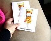 Two owl cards **RESERVED LISTING**