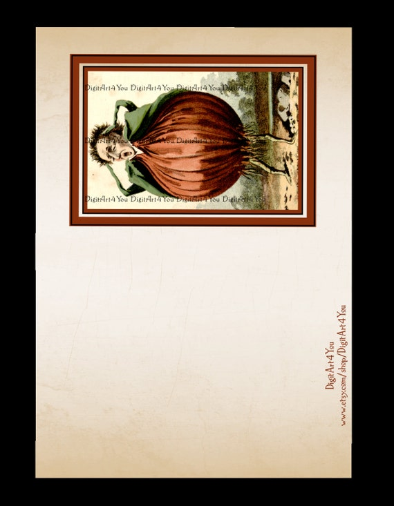 Greeting card cards onion veggies vegetables vegan cute kitchen strange unusual funny diy card - Unknown uses for an onion ...