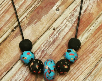 Funky clay beads necklace