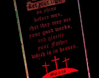 Mat 5:16 Etching