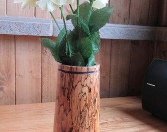 Wood & Glass bud vase