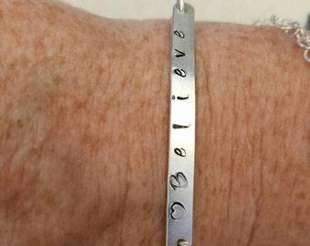 Personalized sterling silver bracelet