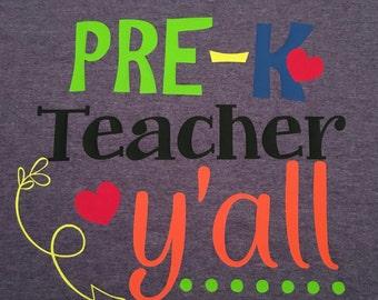 Pre-K Teacher Y'all
