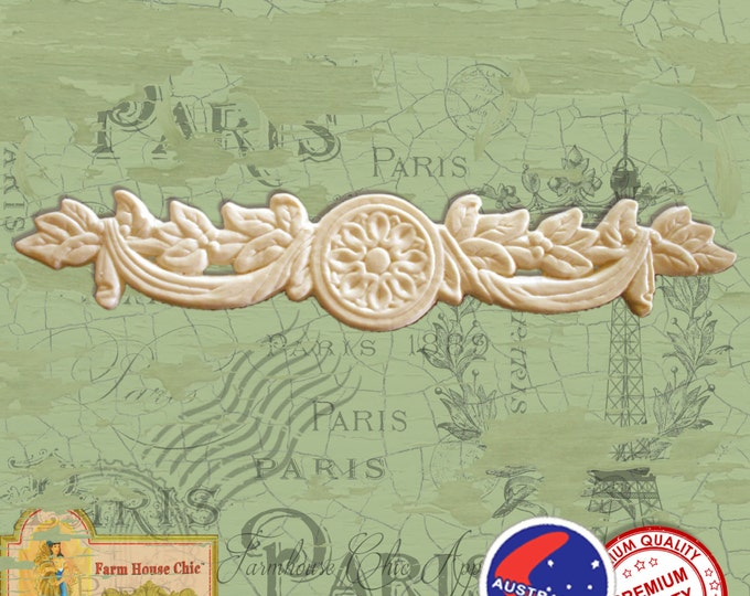 Shabby French Chic Resin / Wood Composite Furniture Moulding, Crown, Festoon, Swag, Furniture Applique, Furniture Carving, Decorations