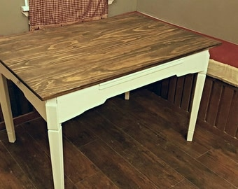 Hand crafted kitchen table. country table. Rustic table.