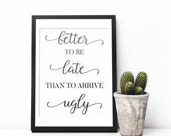 Beautiful Funny Art Print, Funny Bathroom Art, Bathroom Wall Decor, Bathroom Print,  Toilet Home Design Ideas