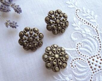 Vintage Buttons  Vintage Brass Tone  Buttons , Metal Buttons.