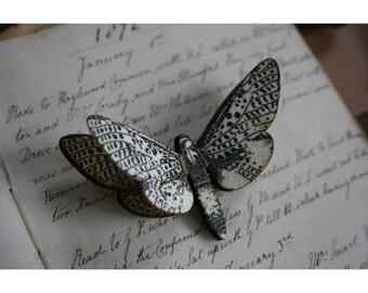 Moth brooch - Twin layered
