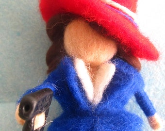 Peggy Carter, Geek gift, Agent Carter, Needle felted wool, soft sculpture, Waldorf inspired Peggy Carter, Girl power, Geekery, Geek parents