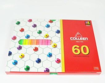 Colleen 60 Neon Color Pencils Set Free Shipping