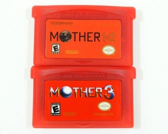 Mother 3 & 1+2 GBA Earthbound Carts English Fan Translations for Nintendo Game Boy Advance Customized Cartridge Cart 1 + 2 - Free Shipping!