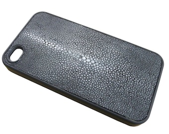 Genuine shagreen leather case for iPhone 4