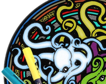 Mandala Coloring Page Printable Download - Octopus