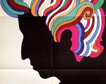Original Bob Dylan 1966 Milton Glaser poster