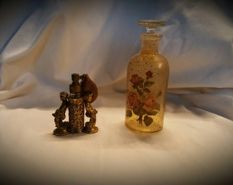 Vintage Perfume bottle and Glass Bottle