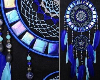 Dream catcher Dreamcatcher Blue mosaic wall native american Large Dreamcatcher boho Indian talisman gift dreamcatche wall hanging boho decor