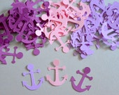 Nautical Confetti Anchor Party Decorations Nautical Theme  Anchor Confetti Party  Bridal Shower Confetti Baby Shower Nautical Birthday Party