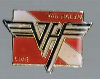 Van Halen live 1 Inch Enamel Pin Button Eddie Alex