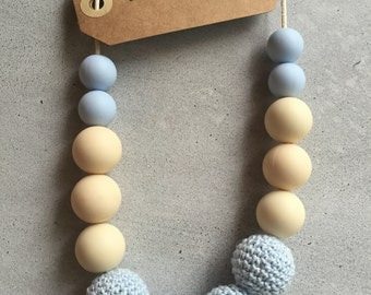 Silicone and crochet teething necklace