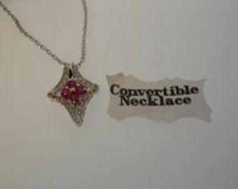 Diamond & Ruby Convertible 2-in-1 Necklace