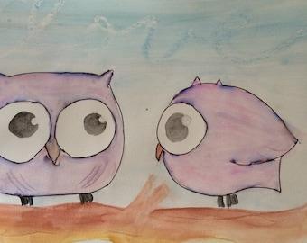 Love Birds watercolour print