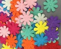 Felt Flowers, Felt Shapes, Felt Pack, Flower Embellishments, Flower Applique, Mixed Flowers, Sew On Flowers, Craft Flowers, Coloured Flowers