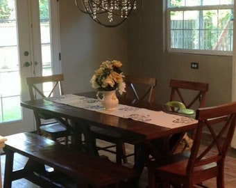 Farmhouse Style All Wood Dining Room Set